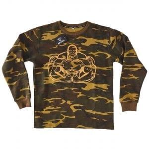 100% or Nothing MaxxMuscle Gym Anth Bailes Green Camo Bodybuilding SweatShirt