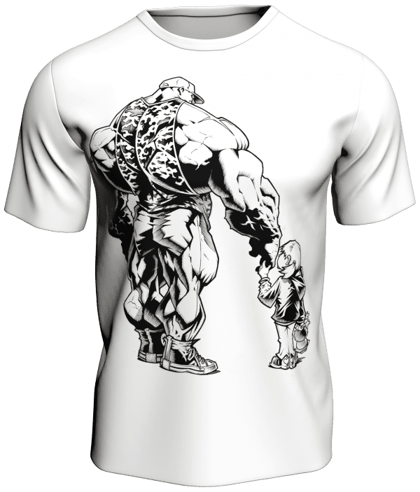 Daddy and Daughter Themed White Bodybuilding T-Shirt Anth Bailes