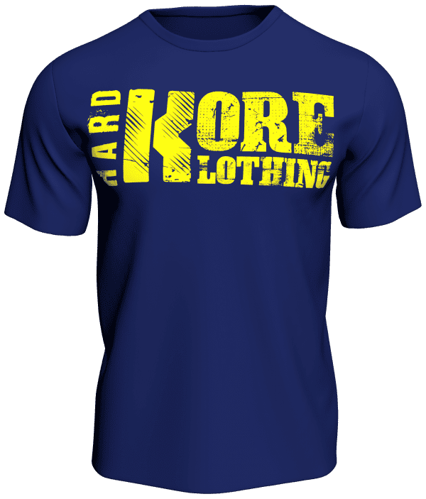 Hardkore Klothing Blue Bodybuilding T-Shirt If You're Not Falling Over You're Not Running Hard Enough